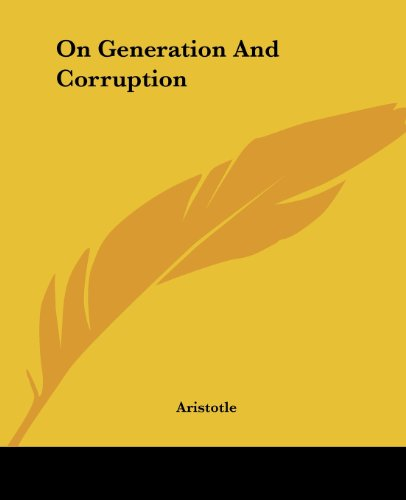 9781419138416: On Generation And Corruption
