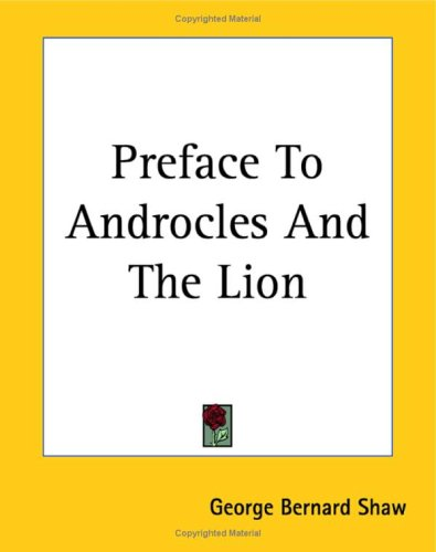 9781419142819: Preface to Androcles and the Lion