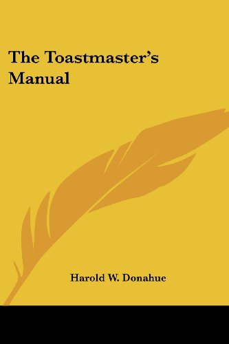 9781419156366: The Toastmaster's Manual