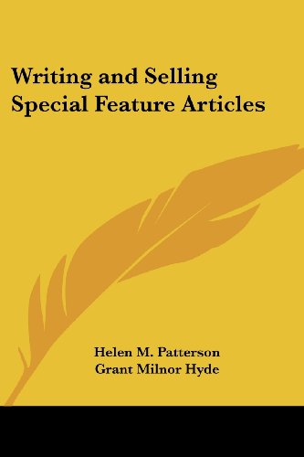 9781419172144: Writing and Selling Special Feature Articles