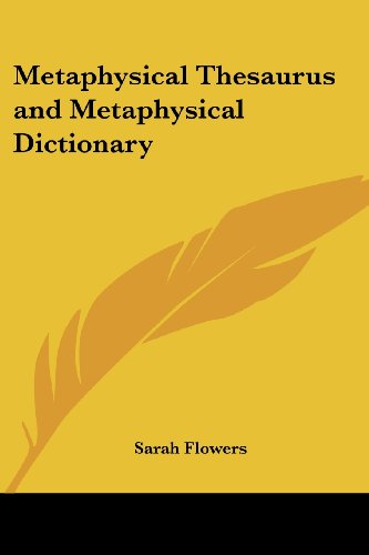 9781419173721: Metaphysical Thesaurus and Metaphysical Dictionary