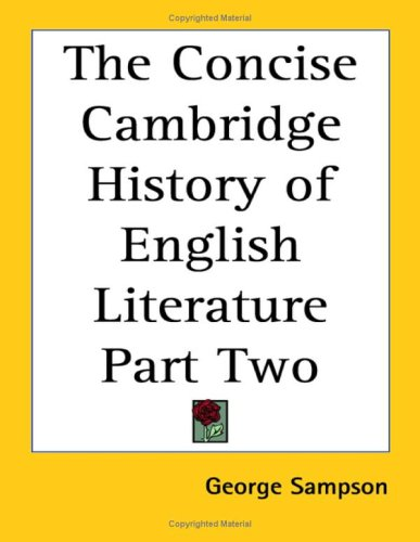 9781419181245: The Concise Cambridge History of English