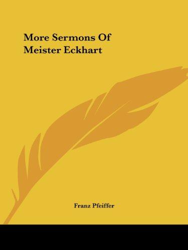 9781419189579: More Sermons Of Meister Eckhart