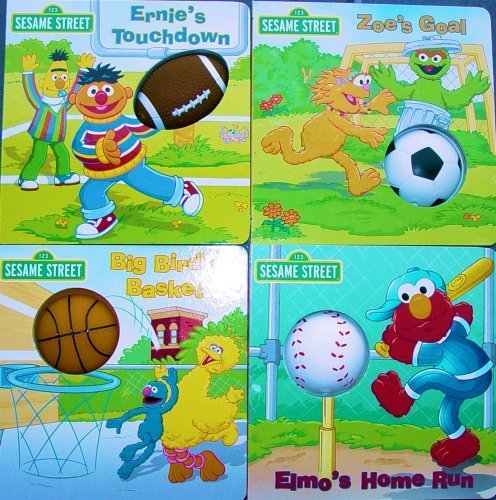 Sesame Street Board Books-Set of Four-Sports Squeakers (Sports Squeakers): Lee Howard