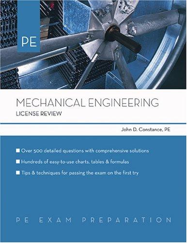 9781419501340: Mechanical Engineering License Review (PE Exam Preparation)