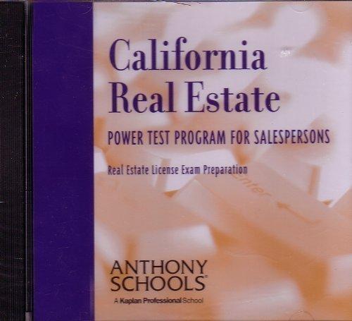 9781419510168: California Real Estate Power Test Program for Salespersons [Real Estate License Exam Preparation]