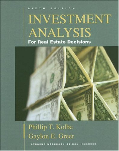 9781419515316: Investment Analysis for Real Estate Decisions, Sixth Edition