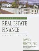 Essentials of Real Estate Finance: David Sirota