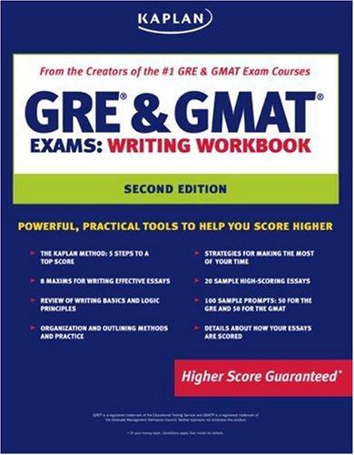 9781419542015: Kaplan GRE & GMAT Exams Writing Workbook