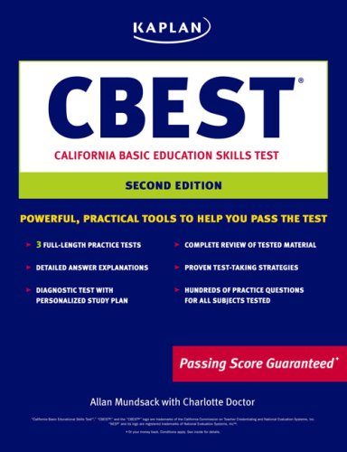 9781419542251: Kaplan CBEST: California Basic Educational Skills Test