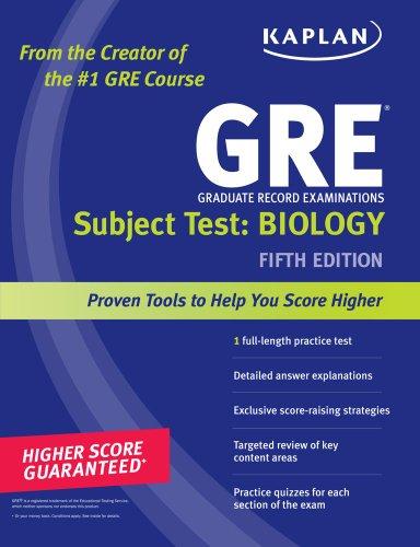 9781419550003: Kaplan GRE Subject Test: Biology (Kaplan GRE