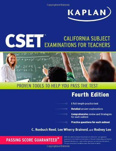 9781419550294: Kaplan CSET: California Subject Examinations for Teachers