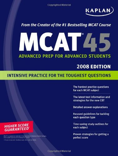 9781419550560: Kaplan MCAT 45, 2008 Edition