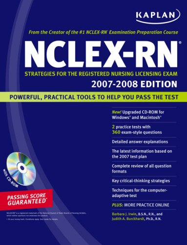9781419550980: Kaplan NCLEX-RN Exam 2007-2008 (with CD-ROM): Strategies for the Registered Nursing Licensing Exam