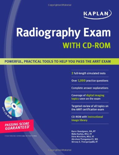 9781419551116: Kaplan Radiography Exam with CD-ROM