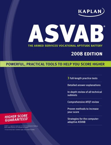 ASVAB 2008 : The Armed Services Vocational: Kaplan Publishing Staff