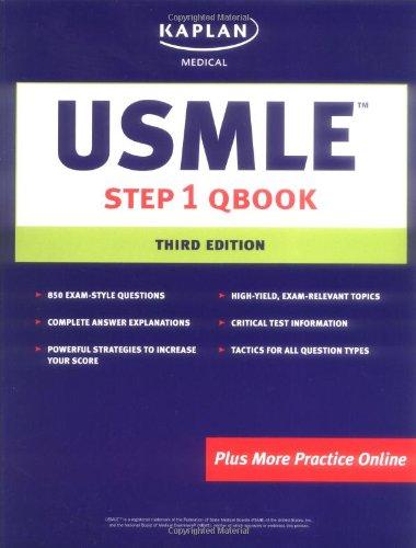 9781419551499: USMLE Step 1 Qbook (Kaplan USMLE Qbook)