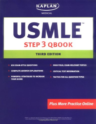 9781419551529: USMLE Step 3 Qbook (Test-Taking and Study Strategies Guide)