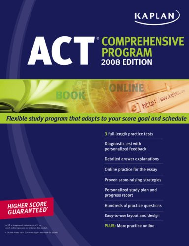 9781419551628: Kaplan ACT 2008 Comprehensive Program