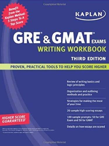 9781419552175: Kaplan GRE & GMAT Exams Writing Workbook