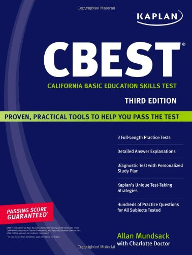 9781419552328: Kaplan CBEST: California Basic Education Skills Test