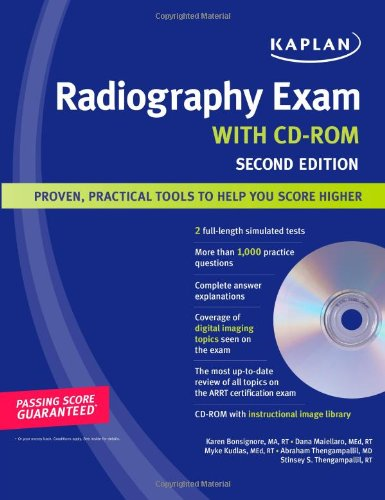 9781419552748: Kaplan Radiography Exam with CD-ROM