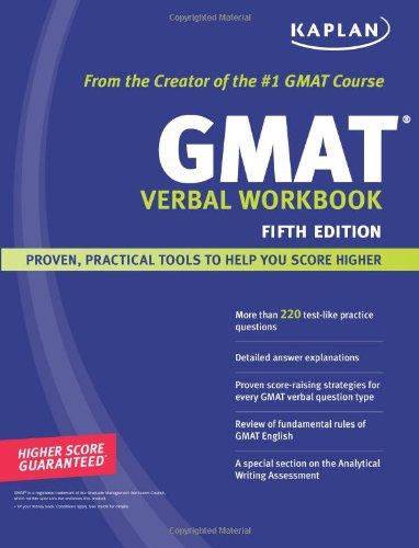 9781419553059: Kaplan GMAT Verbal Workbook