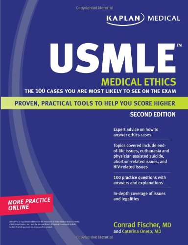 9781419553141: Kaplan USMLE Medical Ethics: The 100 Cases You Are Most Likely to See on the Exam