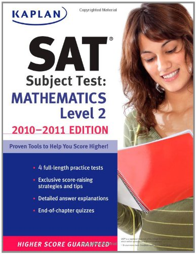 9781419553493: Kaplan SAT Subject Test Mathematics Level 2 2010-2011 Edition