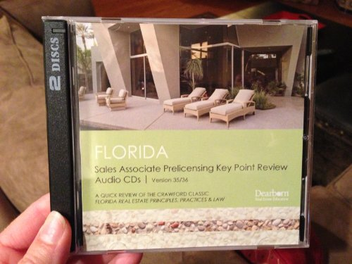 Florida Sales Associate Prelicensing Key Point Review Auido CDs (9781419585722) by Kaplan Real Estate Education