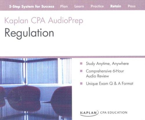 9781419591136: CPA Exam: Audio Review CDs Regulation (Kaplan CPA Exam - Quick Review Flash Cards)