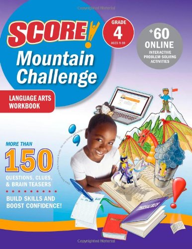 SCORE! Mountain Challenge Language Arts Workbook, Grade 4 (Ages 9-10): Kaplan