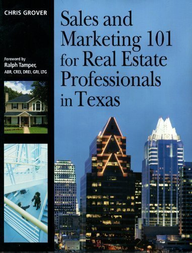 9781419595899: Sales and Marketing 101 for Real Estate Professionals in Texas