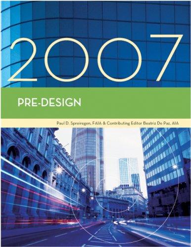 9781419596773: Pre-Design, 2007 Edition