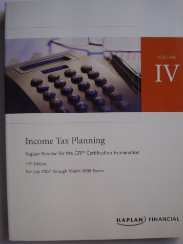 9781419599484: CFP Live Review Vol 4: Income Tax Planning 11E