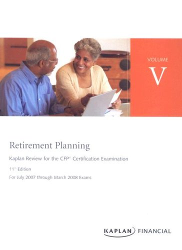 9781419599491: CFP Live Review Vol 5: Retirement Planning 11E (Kaplan Review for the CFP Certification Examination)
