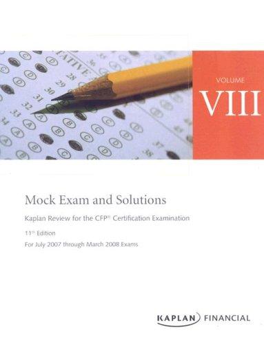 9781419599514: CFP Live Review Vol 8: Mock Exams 11E
