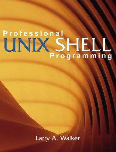 9781419637711: Professional Unix Shell Programming