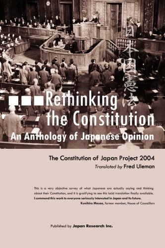 9781419641657: Rethinking the Constitution:An Anthology of Japanese Opinion