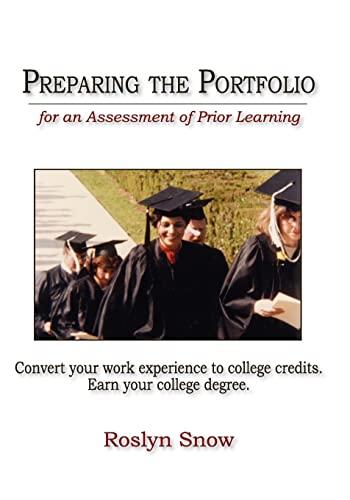 9781419673849: Preparing the Portfolio: for an Assessment of Prior Learning