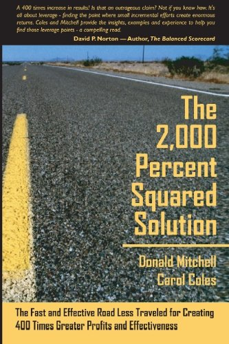 9781419675454: The 2,000 Percent Squared Solution: The Fast and Effective Road Less Traveled for Creating 400 Times Greater Profits and Effectiveness