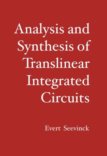 9781419687853: Analysis and Synthesis of Translinear Integrated Circuits