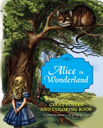 9781419700897: Alice in Wonderland Giant Poster and Coloring Book
