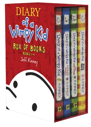 9781419711824: Diary of a Wimpy Kid Box of Books 1-4
