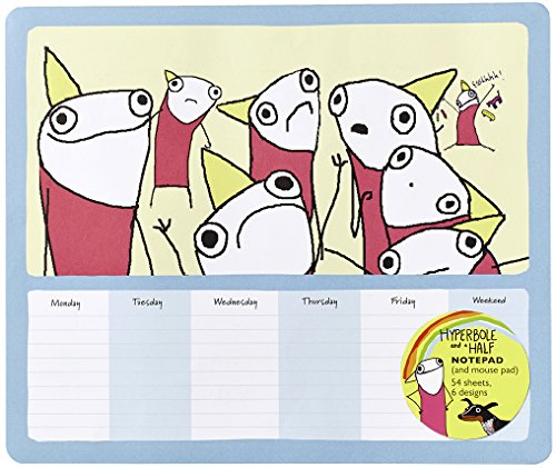 Hyperbole and a Half Notepad (and Mouse Pad): 54 Sheets, 6 Designs: Brosh, Allie