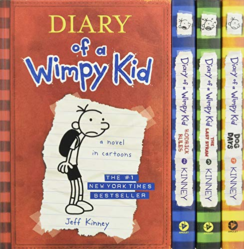 9781419716690: Diary of a Wimpy Kid Box of Books 1-4
