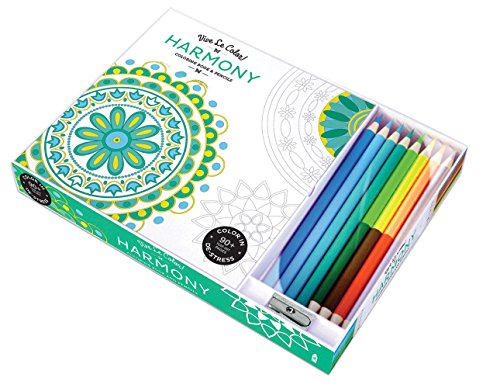 9781419720536: Harmony Adult Coloring Book: Coloring Book & Pencils