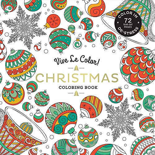 9781419724350: Christmas ( Coloring Book ): Color In; de-Stress (72 Tear-Out Pages) (Colouring Books)