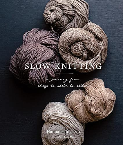 "Slow Knitting 9781419726682 Like the ""slow food"" movement, Slow Knitting encourages knitters to step back, pare down, and celebrate the craftsmanship of their work. In five chapters centered around the tenets of slow knit­ting—sourcing carefully, making thoughtfully, thinking environmentally, experimenting fearlessly, and exploring openly—Hannah Thiessen challenges knitters of all skill levels to view their practice in a new way. Each chapter contains explorations of fiber types; profiles of well-known yarn types, makers, and yarn suppliers; and garment patterns inspired by the featured fibers. With contributions from knitting superstars Norah Gaughan, Bristol Ivy, and many others, Slow Knitting proposes an approach to knitting that is both minimalist and all-encompassing, and emphasizes what makes knitting a meditation, a passion, and a unique necessity."