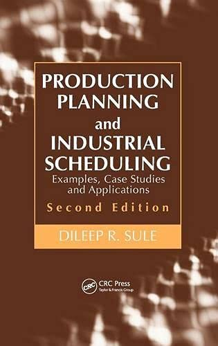 Production Planning and Industrial Scheduling: Examples, Case: Sule, Dileep R.